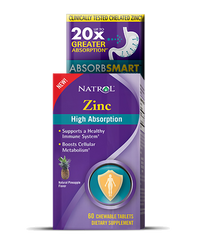 Natrol® Zinc High Absorption 60 Tablets - Vitamin Hot Spot