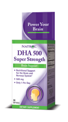 Natrol® DHA 500mg 30 Softgels | Super Strength DHA - Vitamin Hot Spot