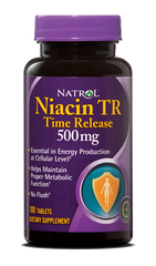 Natrol® Niacin (Vitamin B3) 500 mg 100 Time Release Tablets - Vitamin Hot Spot