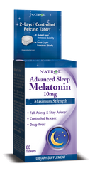 Natrol® Advanced Sleep Melatonin 10mg 60 Time Release Tablets | Maximum Strength Sleep Aid - Vitamin Hot Spot