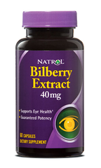 Natrol® Bilberry Extract 40mg 60 Capsules | Eye Health - Vitamin Hot Spot