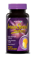 Natrol® Brain Speed Memory 60 Tablets - Vitamin Hot Spot