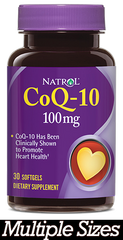 Natrol® CoQ-10 100mg 30 Softgels or 60 Softgels Healthy Heart | Convert Fats Into Energy - Vitamin Hot Spot