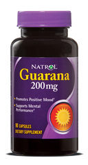 Natrol® Guarana 200mg 90 Capsules | Energy & Mental Performance - Vitamin Hot Spot