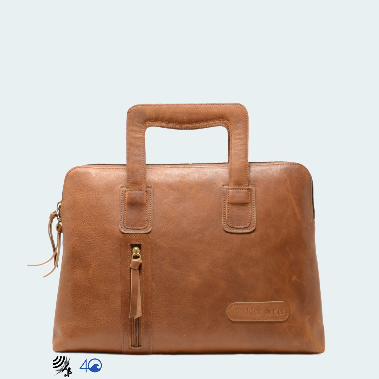 Leather Carryall Bag - Tawny Brown