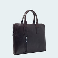 Leather Carryall Bag - Midnight Black - Side