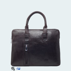 Leather Carryall Bag - Midnight Black