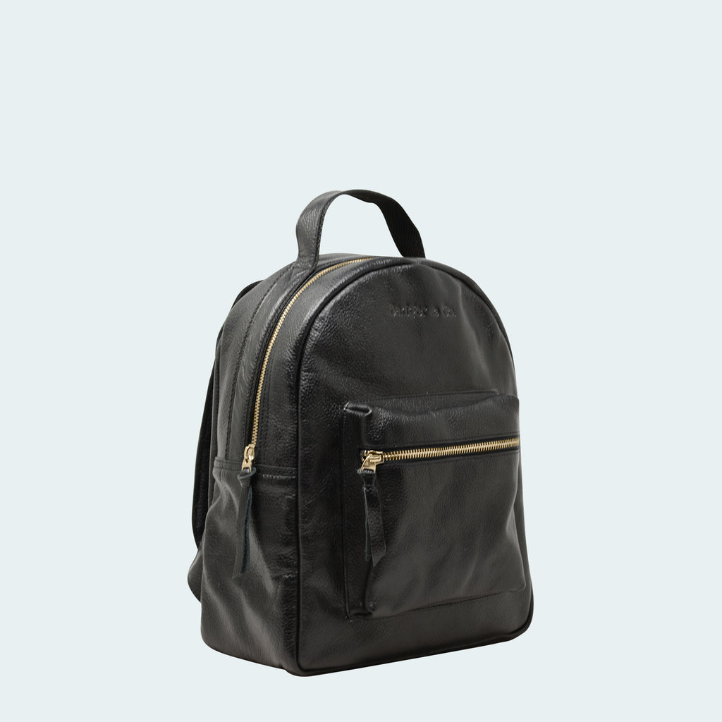 Limited Leather - Mini Backpack - Black - Side view
