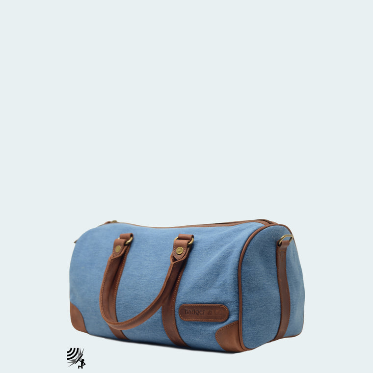 Mini Denim Duffle and Backpack - With girls