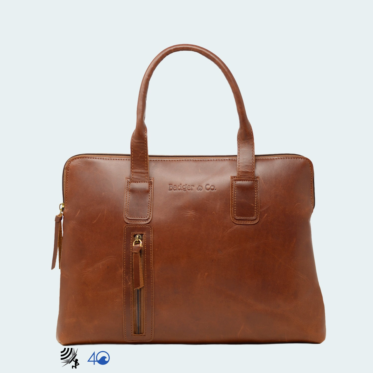 Leather Professtional Carryall - Cognac Brown