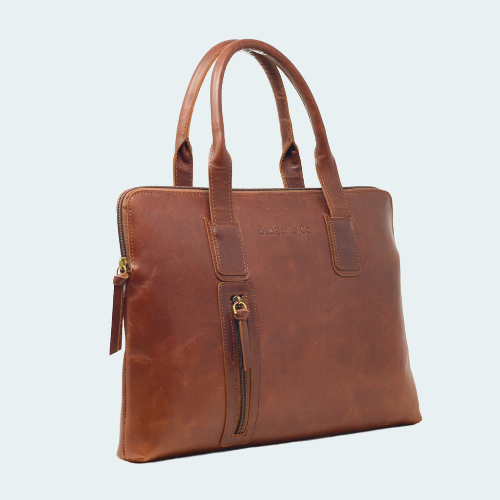 Leather Professtional Carryall - Side