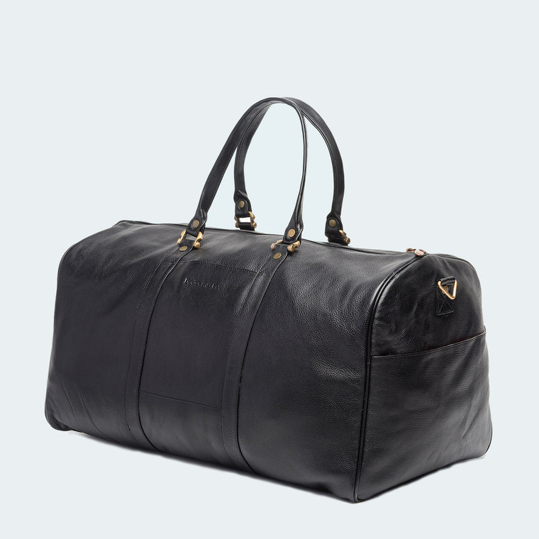 Leather Westender Duffle - Classic Black - Side