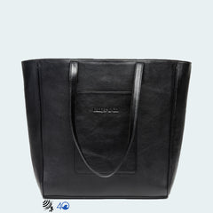 Leather X-Large Tote - Classic Black