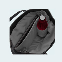 Leather X-Large Tote - Classic Black - Interior