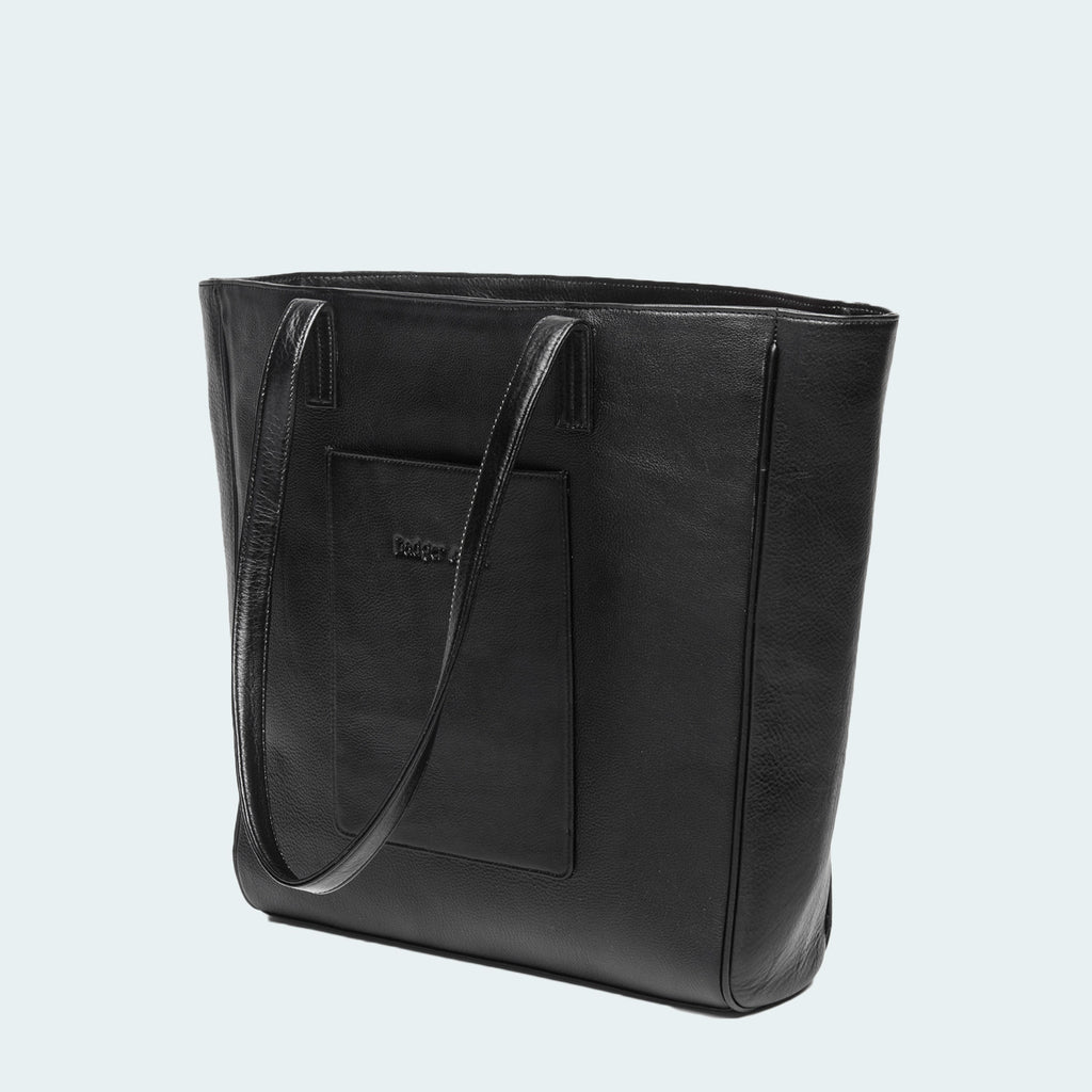 Leather X-Large Tote - Classic Black - Side