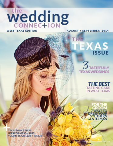 Pill box hat on the cover of Wedding Connection Magazine
