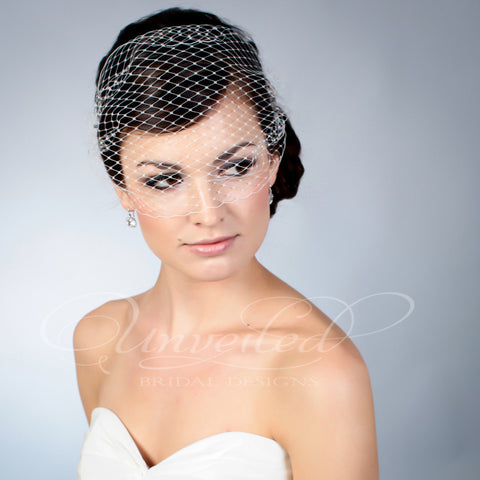 Bandeau French netting veil