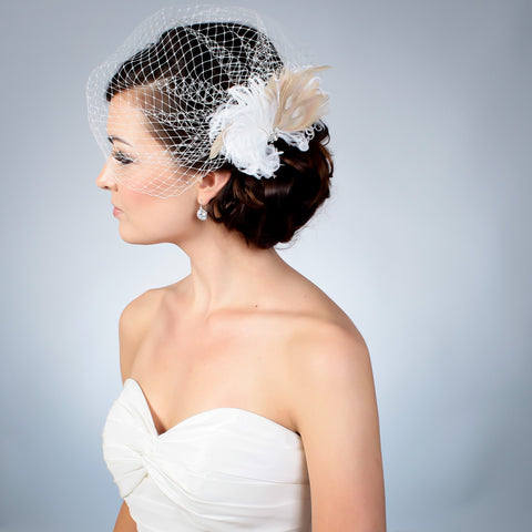 Angle with Heather fascinator