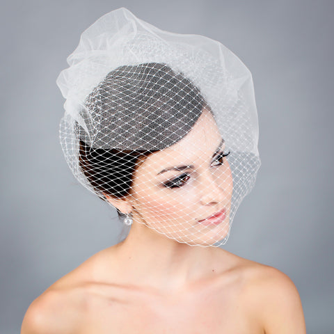 French illusion Bavolet veil