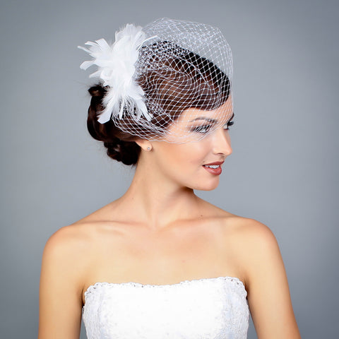 Angle with Monica fascinator