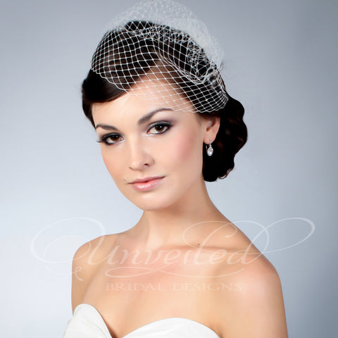French netting Wedge veil
