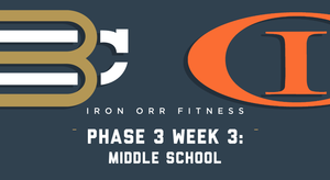 Phase 3 - Week 3: Middle School Workouts