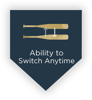 flexibility to switch bats at anytime with Bat Club USA