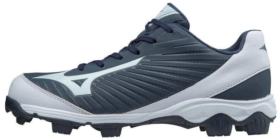 Mizuno 9-SPIKE ADVANCED YOUTH FRANCHISE 9 LOW MOLDED BASEBALL CLEAT (Navy Blue)