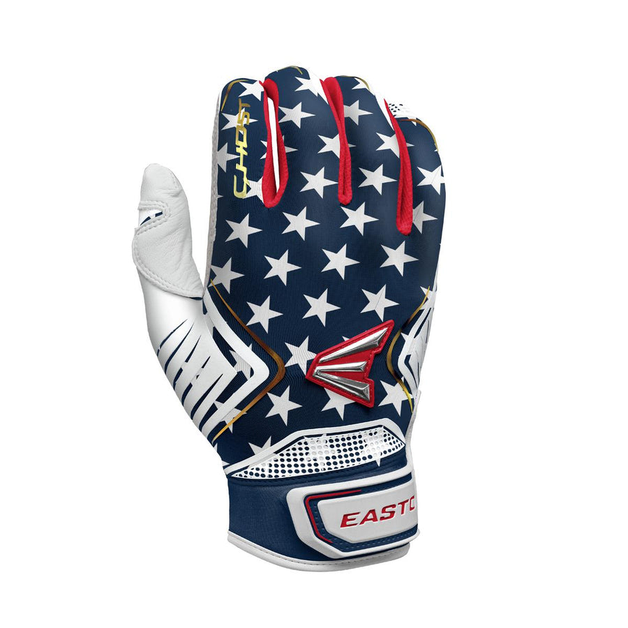 Easton Ghost Fastpitch Batting Gloves Stars and Stripes Edition