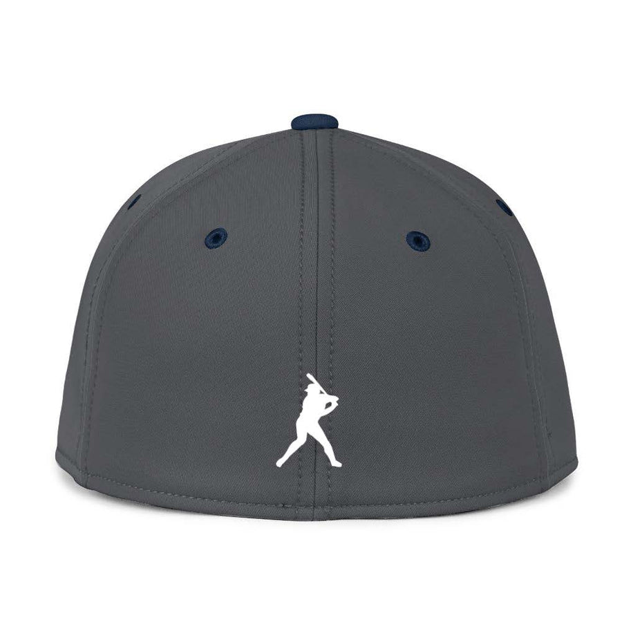 Gray & Navy Blue Fitted BC Hat