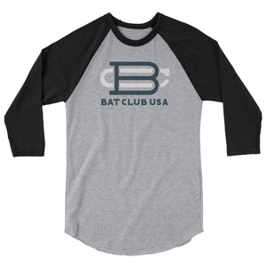 Bat Club USA - 3/4 sleeve BC raglan shirt