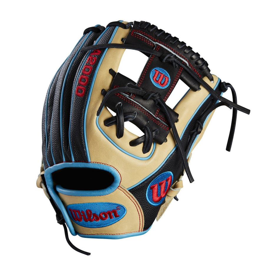 "2018 A2000 DP15 SS 11.5"" Baseball Glove - Blue/Red 