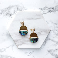 Mod Abalone Shell Statement Earrings | Mod + Jo