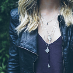 Silver Coin Layered Necklace | Mod + Jo