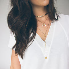 Gold Layered Necklace - Set of 3 | Mod + Jo