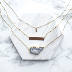 Sliced Agate Layered Necklace | Mod + Jo