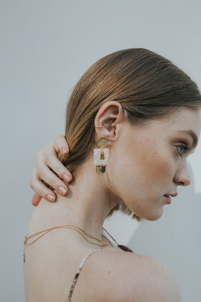 Paige Acrylic Statement Earrings - Rosé - EARRINGS - MOD + JO