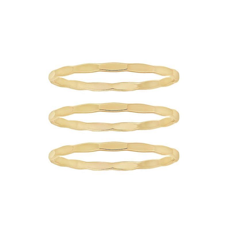 Hammered Stacking Ring Set - Rings - MOD + JO