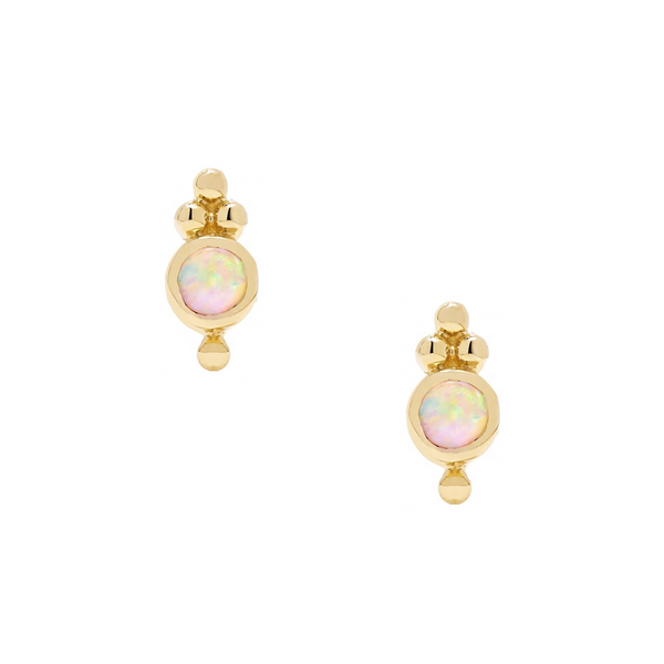 Leigh Opal Studs - EARRINGS - MOD + JO