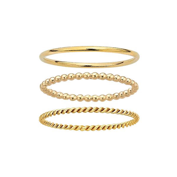Tube + Droplet + Lasso Stacking Ring Set - Rings - MOD + JO