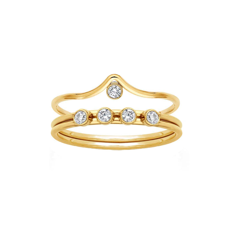 Adeline + Rowe CZ Stacking Ring Set