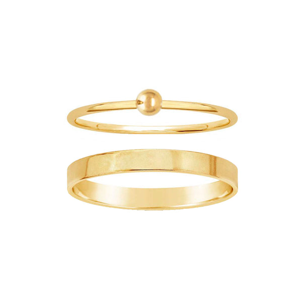 Goldie + Smooth Talker Stacking Ring Set