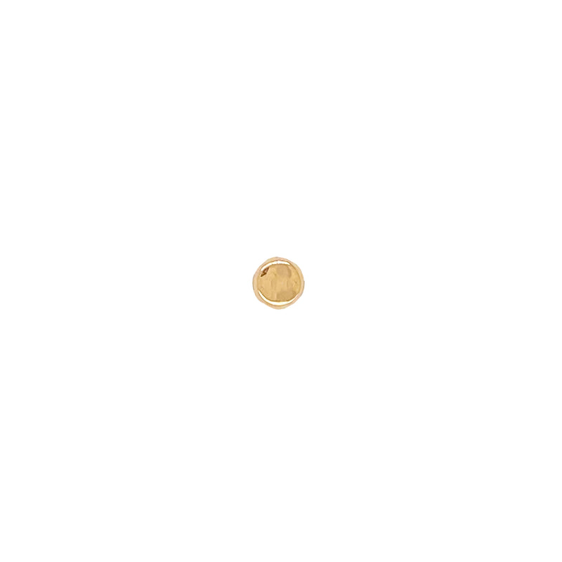 14k Button Stud