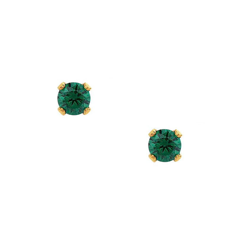 Bae Studs - Emerald - EARRINGS - MOD + JO