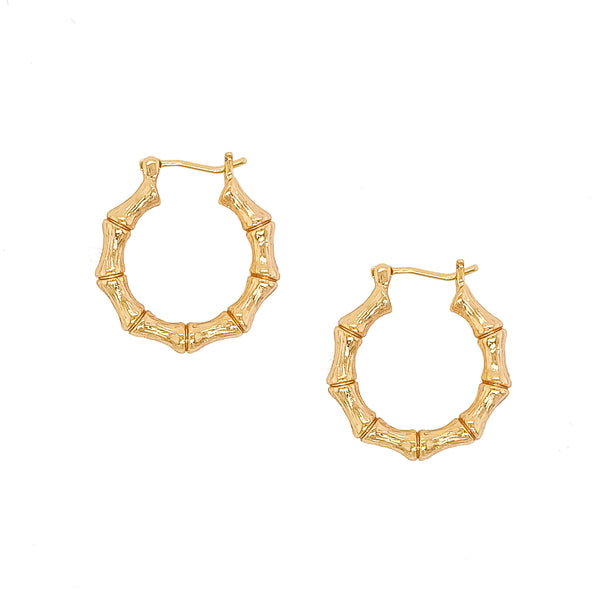 Bamboo Hoops - EARRINGS - MOD + JO