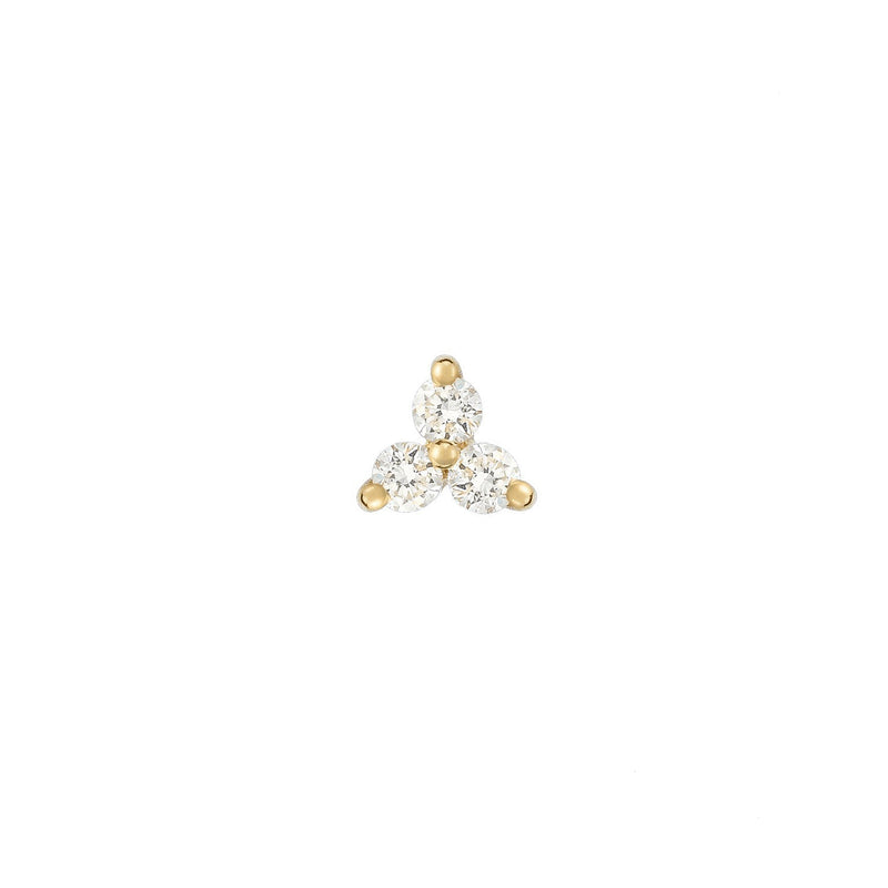 14k Diamond Trinity Stud