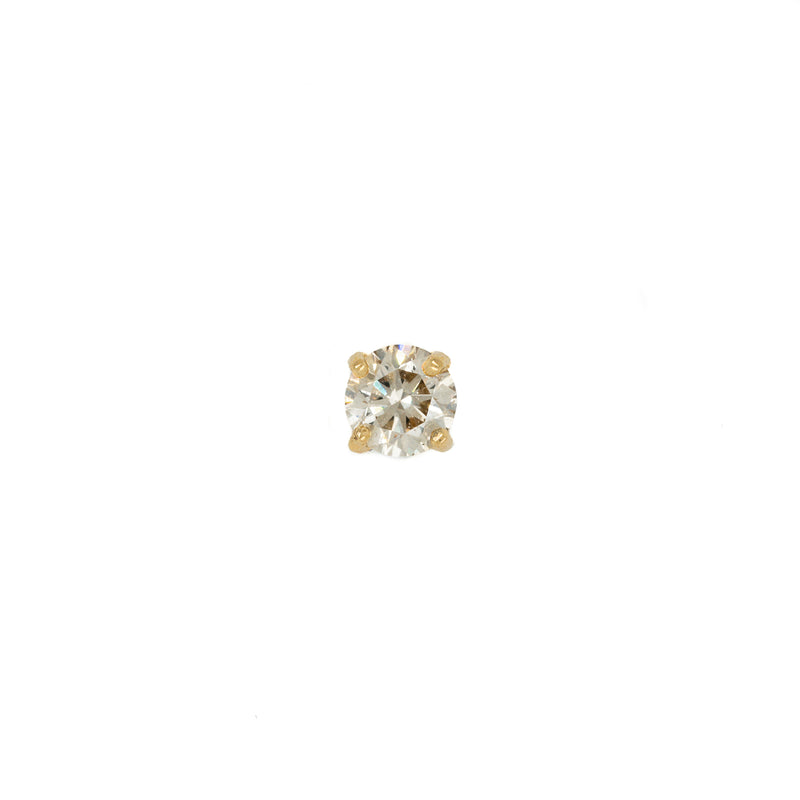 14k Full Cut Diamond Stud