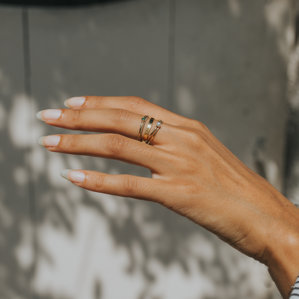 Pearl Stacking Ring - GF - Rings - MOD + JO