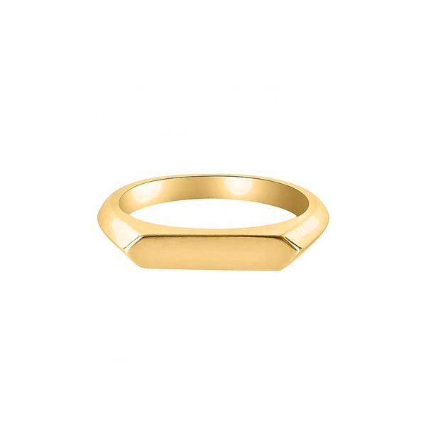 Michelle Slim Signet Ring