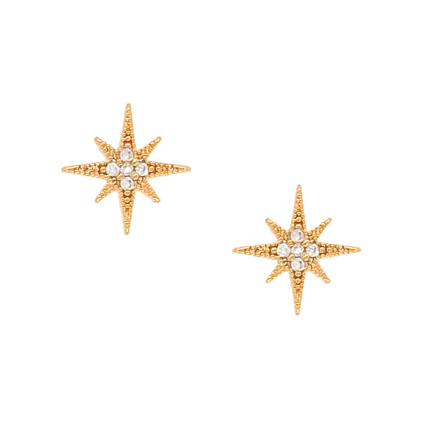 North Star Stud Earrings - EARRINGS - MOD + JO